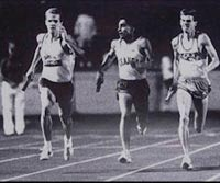 John leads the University of Arizona to it first Victory at the Texas Relays. John is on the Left.